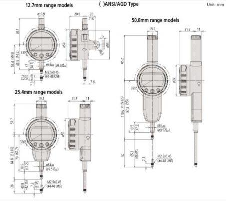 Đồng hồ so điện tử Mitutoyo 543-391 0-12.7mm