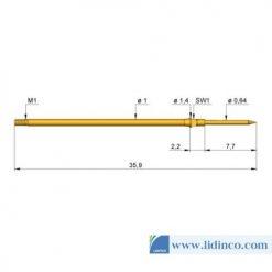 Chân pin ICT Ingun GKS-075 207 120 A 2002 M 35.9 mm 2 N