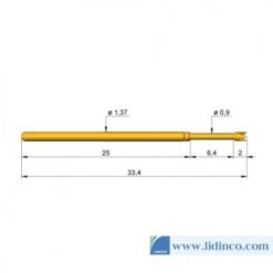 Chân pin ICT Ingun GKS-100 291 090 A 2000 33.4 mm 2N