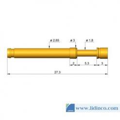 Chân pin ICT Ingun HSS-120 302 230 A 1502 27.3 mm 1.5 N
