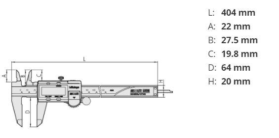 bản vẽ kỹ thuật thước kẹp mitutoyo 500-153-30