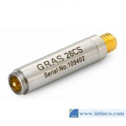 Bộ tiền khuếch đại CCP GRAS 26CS 1/4'' đầu nối Microdot cực ngắn